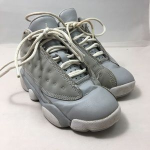 Jordan Retro 13 Girls' Preschool Wolf Grey/White
